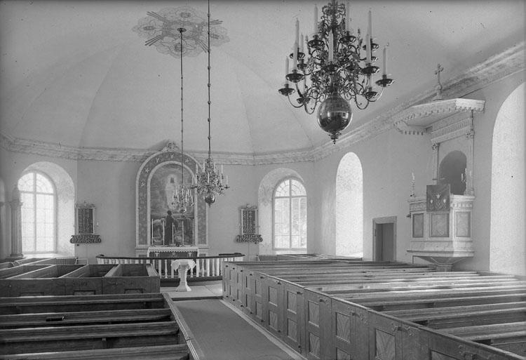 """Enligt AB Flygtrafik Bengtsfors: """"Herrestad kyrka int. Bohuslän""""."""