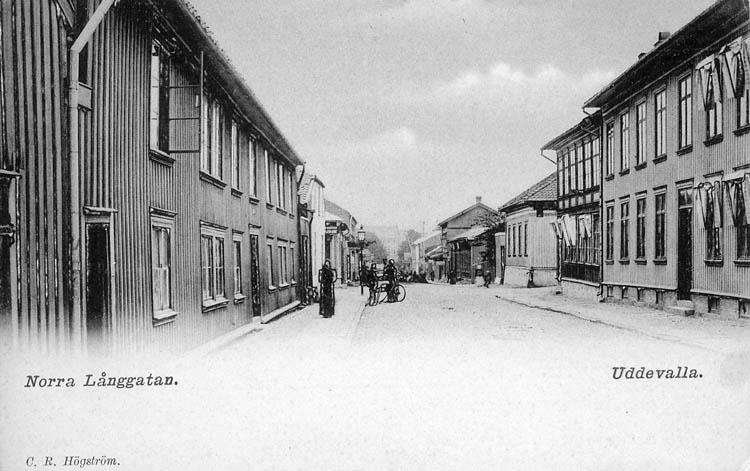 Norra Långgatan. Uddevalla. C. R. Högström.