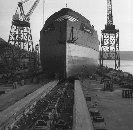 Dop och sjösättning av fartyg 211 M/T Essi Camilla.