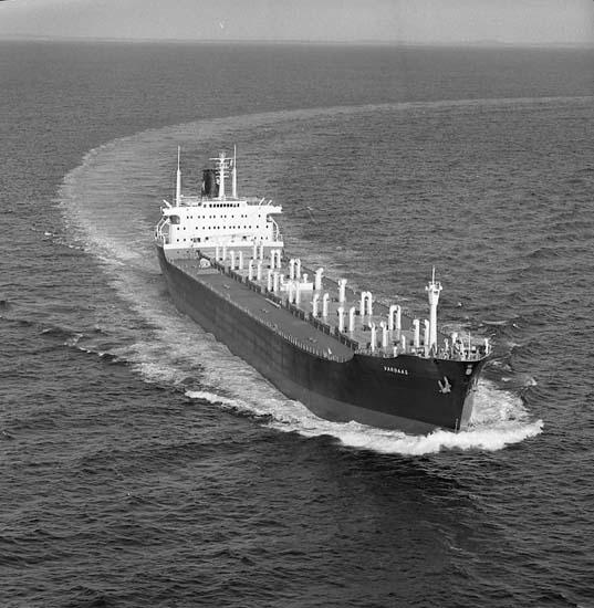 B/C Vardaas DWT. 30.800 Rederi Arnt J. Mörland/Agdesidens Rederi A/S, Arendal Norge Kölsträckning 65-11-05 Nr. 274 Leverans 66-10-27 Bulkfartyg