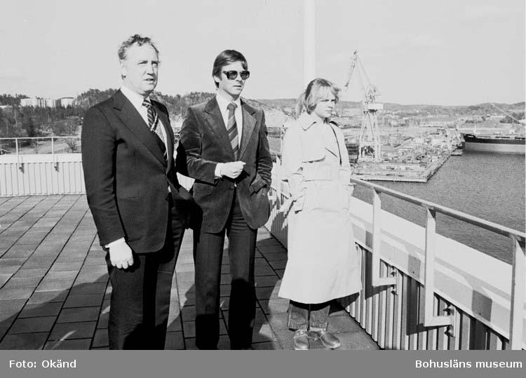 Statsminister Ola Ullsten besöker varvet i maj 1979.
