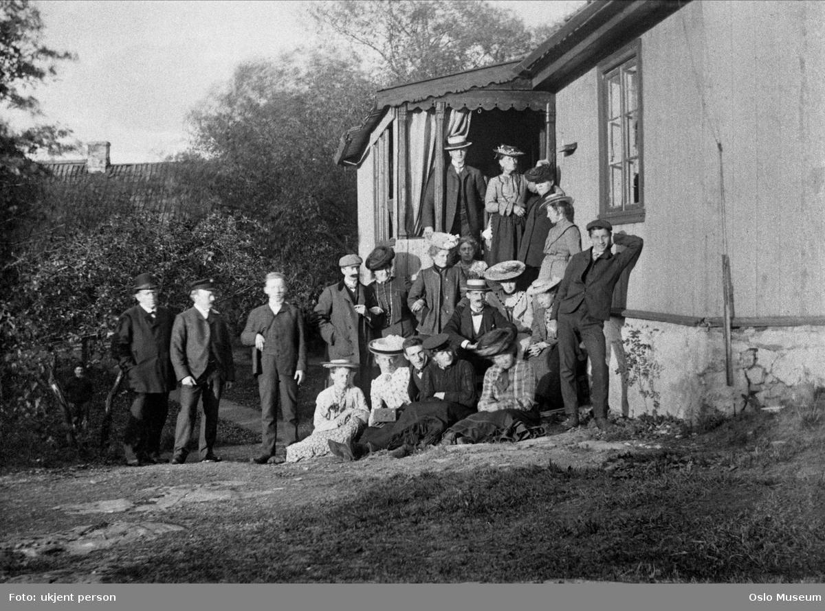 hytte, Stamhuset, gruppe, menn, kvinner, St. Hansaften