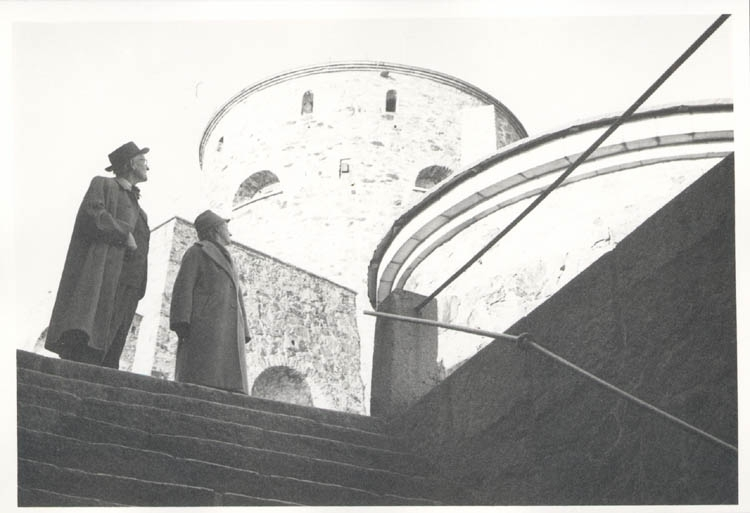 """Noterat på kortet: """"Marstrand. Far och mor i fästningen. 4.11.1961.""""  ::"""