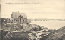 """Tryckt text på kortet: """"Fiskebäckskil. Bökevik med Kristineb"""