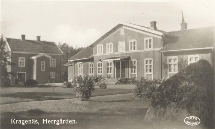 """Tryckt text på kortet: """"Kragenäs, Herrgården.""""  ::"""