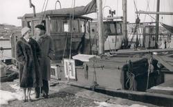 LL 695 ZEUS, LL 207 ERNA och HAVSÖRN i Ulebergshamn 1957