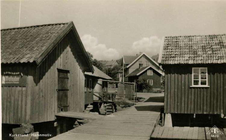 Sjöbodar i Kyrkesund 1940