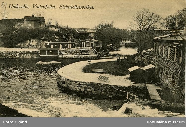 """Vykort. """"Uddevalla, Vattenfallet Elektricitetsverket."""""""