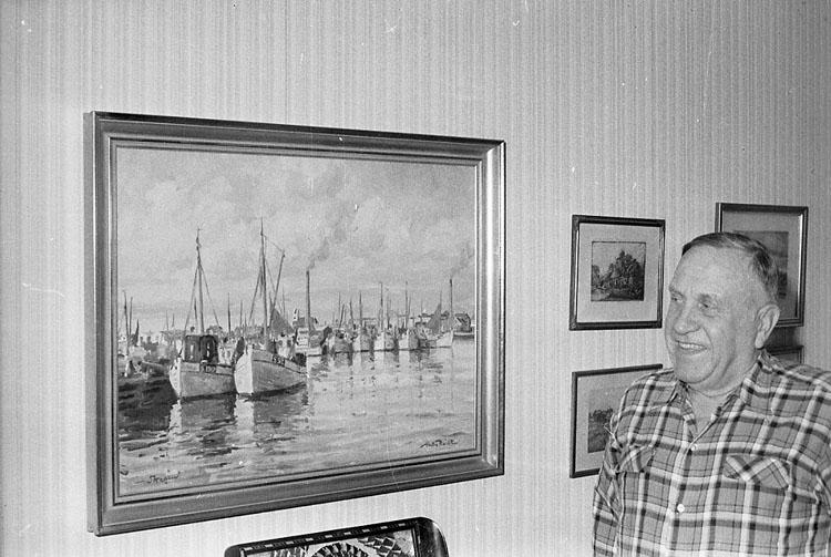 """Enligt fotografens notering: """"Nils Persson skeppare från Smögen""""."""