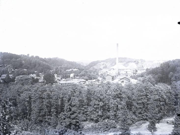 """""""1930. 56. Munkedals Fabrik Juli 1925.""""  """"Fotot taget från Stale."""""""