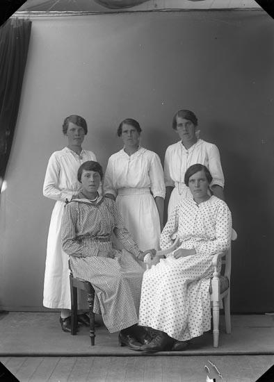 """Enligt fotografens journal nr 3 1916-1917: """"Larsson, Anna Kåleberg, Spekeröd""""."""