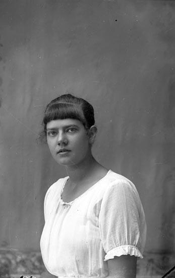 """Enligt fotografens journal Lyckorna 1909-1918: """"Ragnhild Norén Ljungskile""""."""