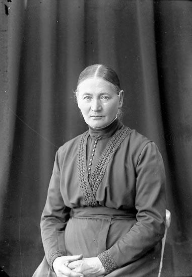 """Enligt fotografens journal nr 3 1916-1917: """"Johansson, Fru Maria Vestergård, Här""""."""