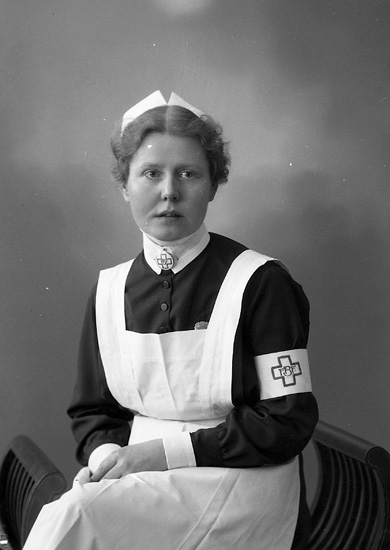 """Enligt fotografens journal nr 5 1923-1929: """"Persson, Fr, Nancy Sanatoriet, Svenshögen""""."""