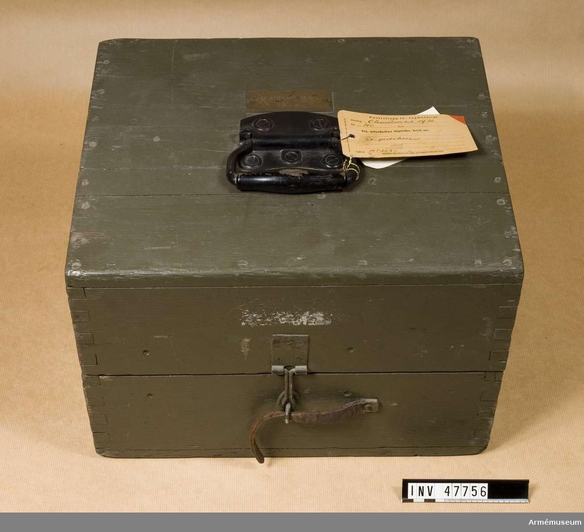 Grupp E VI. Tranportlåda till observationskikare m/1936.