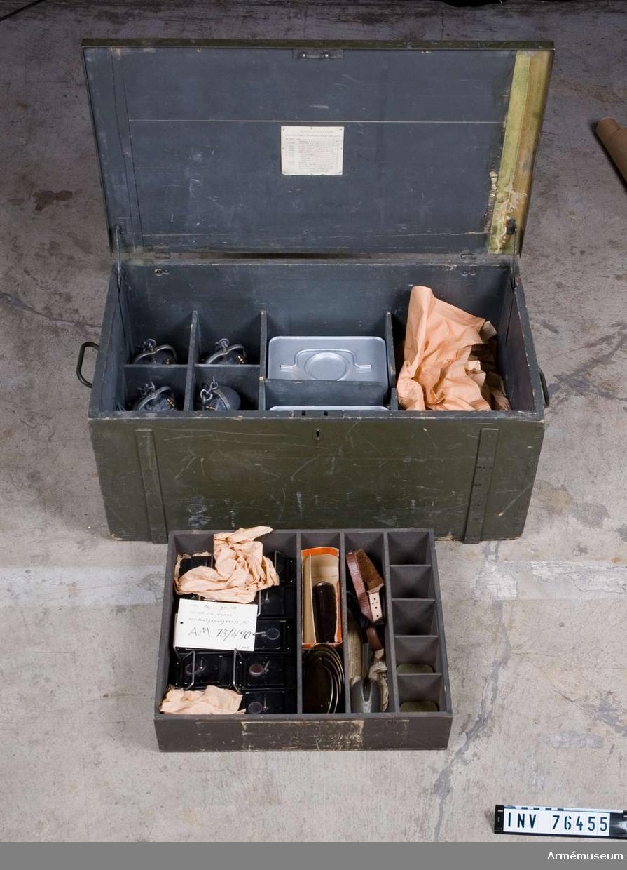 Grupp: I II.    Belysningssatsen består av: belysningslåda m/H a exkl. batterier och glödlampor. Fd Td. 93070