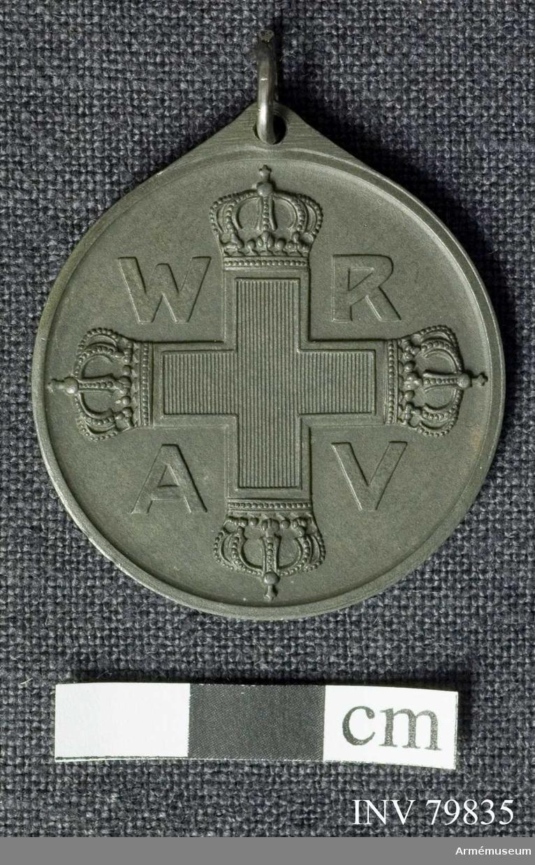 Grupp M II.                                                                                                                                                                                                                   Preussisk Rote-Kreutz-Medaille, 3 kl Bandet saknas.