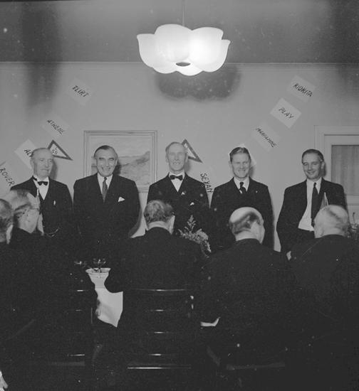 """Text till bilden: """"LSS årsmöte på Tärnan. 1946.10.05""""."""
