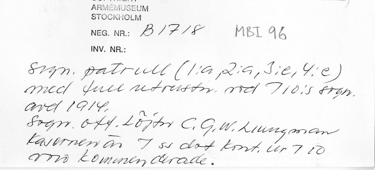 Södermanlands regemente I 10 signalavdelning.