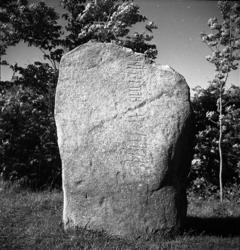 """Tidigare notering: """"Runsten vid Tanums kyrka."""""""