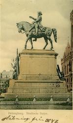 Notering på kortet: Helsingborg. Stenbocks Statyn.