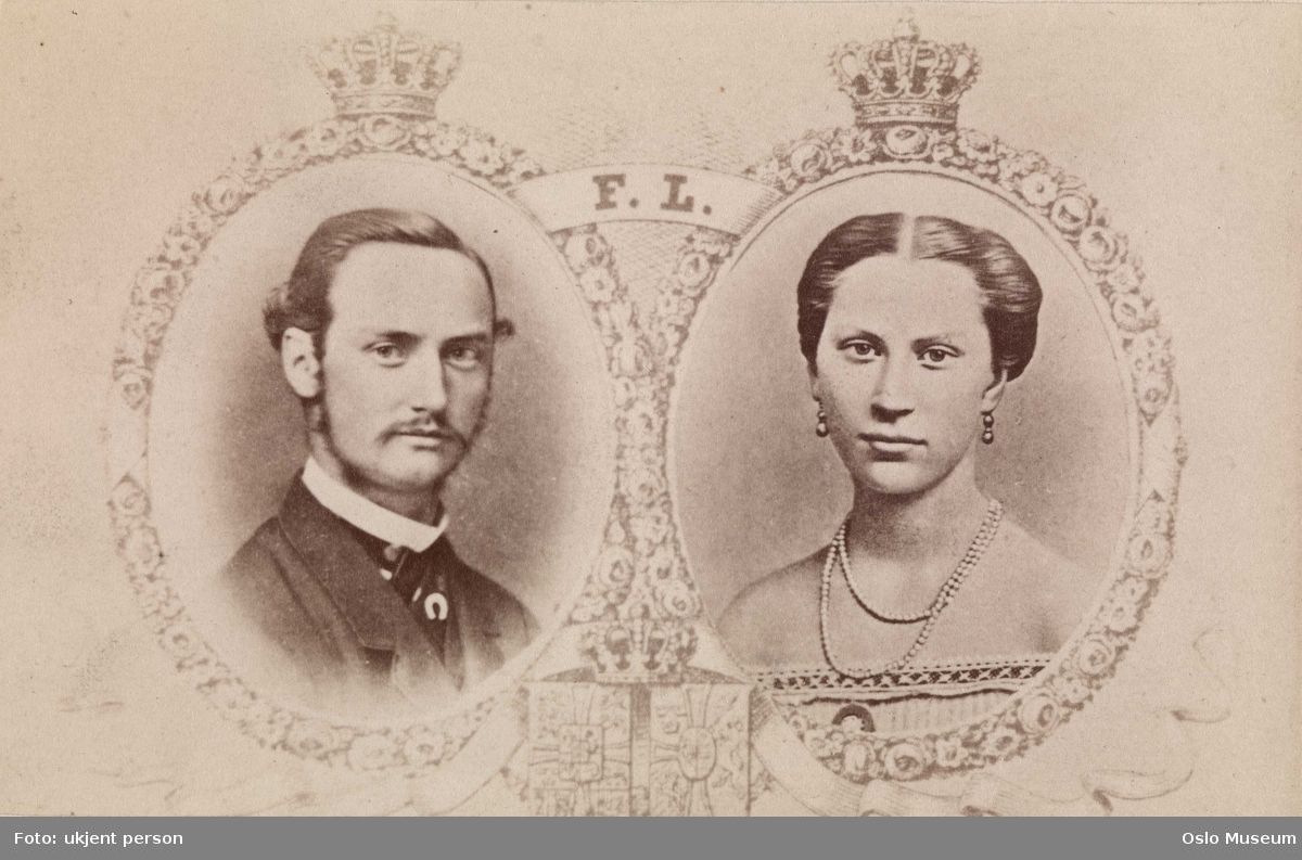 fotomontasje: portretter, konge, dronning