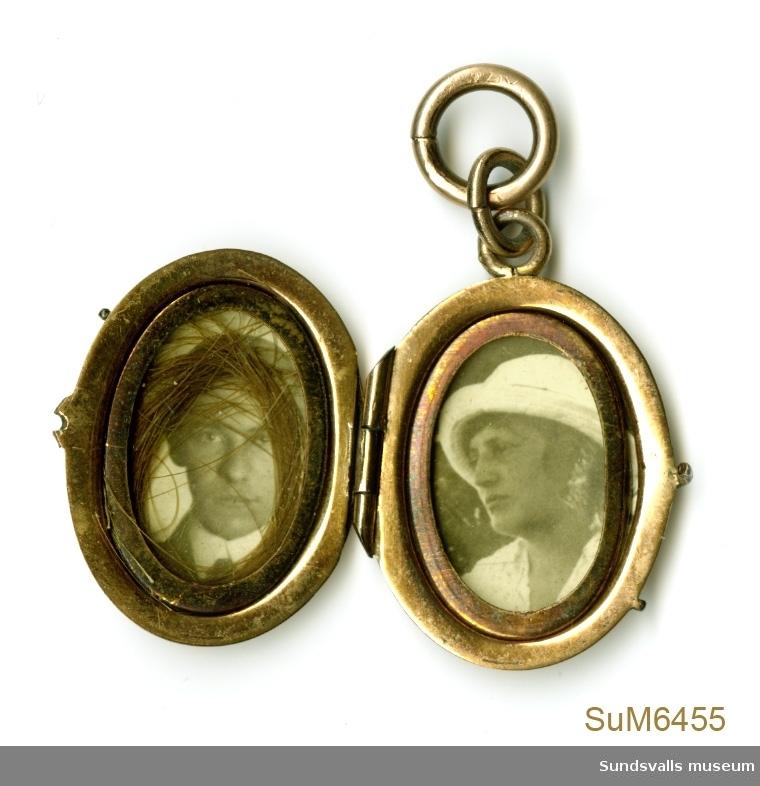 2 st. Porträttfotografier, man och kvinna