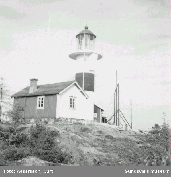 Brämö fyr, år 1948.