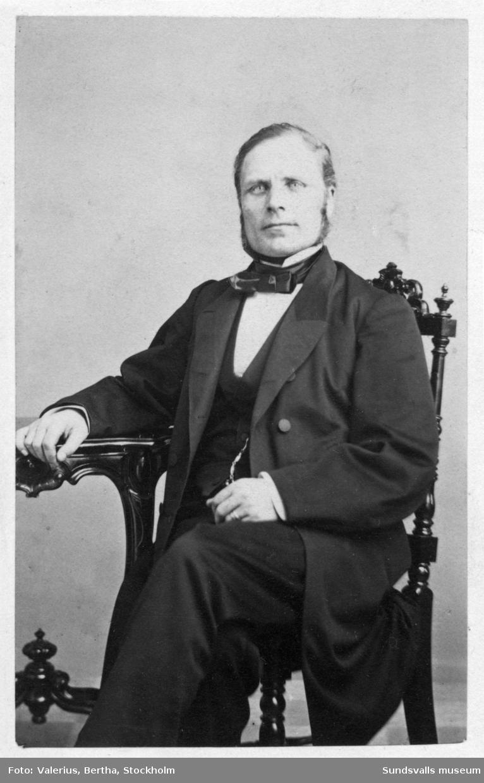 Porträtt på rektorn vid Läroverket och bankdirektören Erik Berggren (1818-1897).