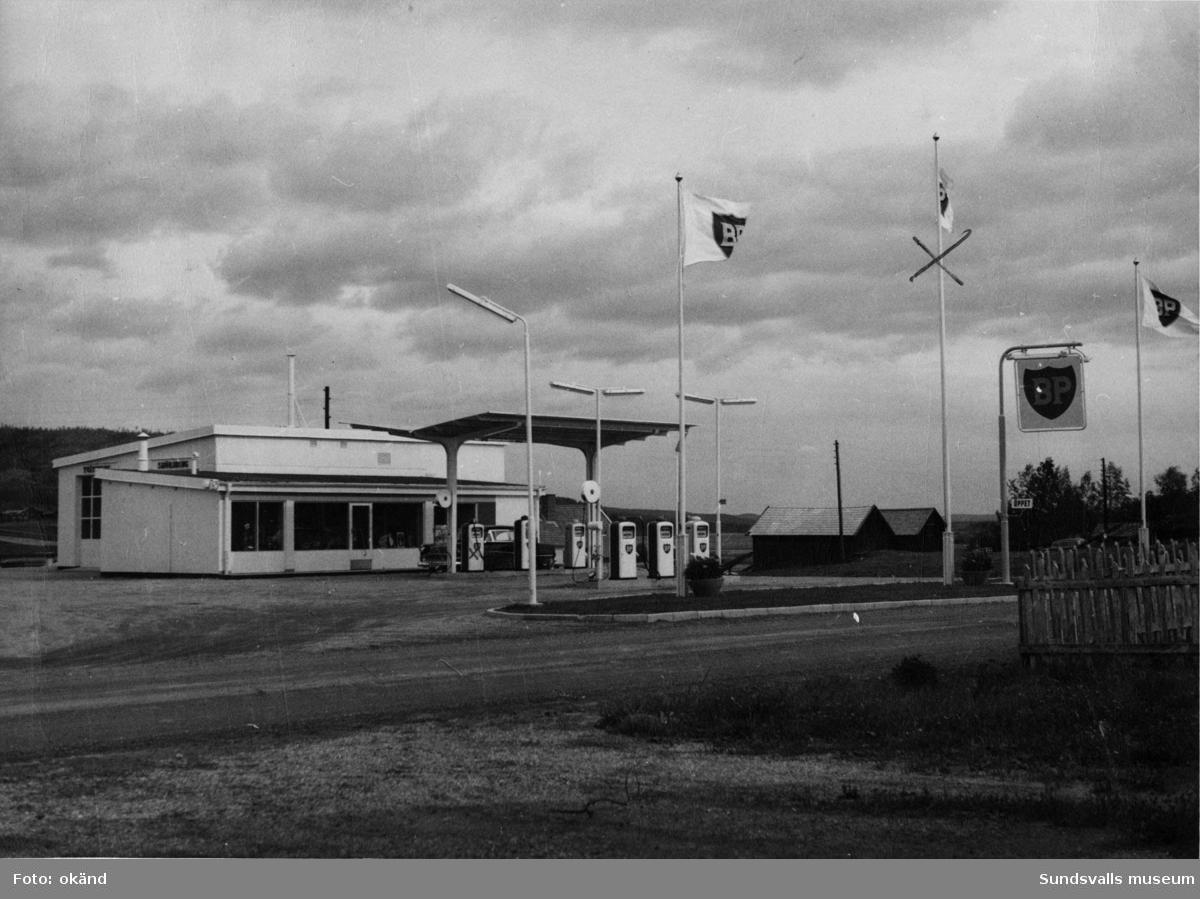BP-stationen Bredbyn, Örnsköldsvik. Köpman: Nisse Nilsson.
