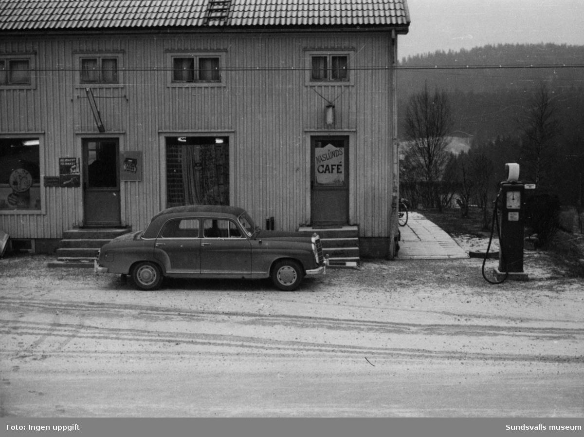 BP-stationen Bölen, Sidensjö, Örnsköldsvik. Köpman: ev.Näslund