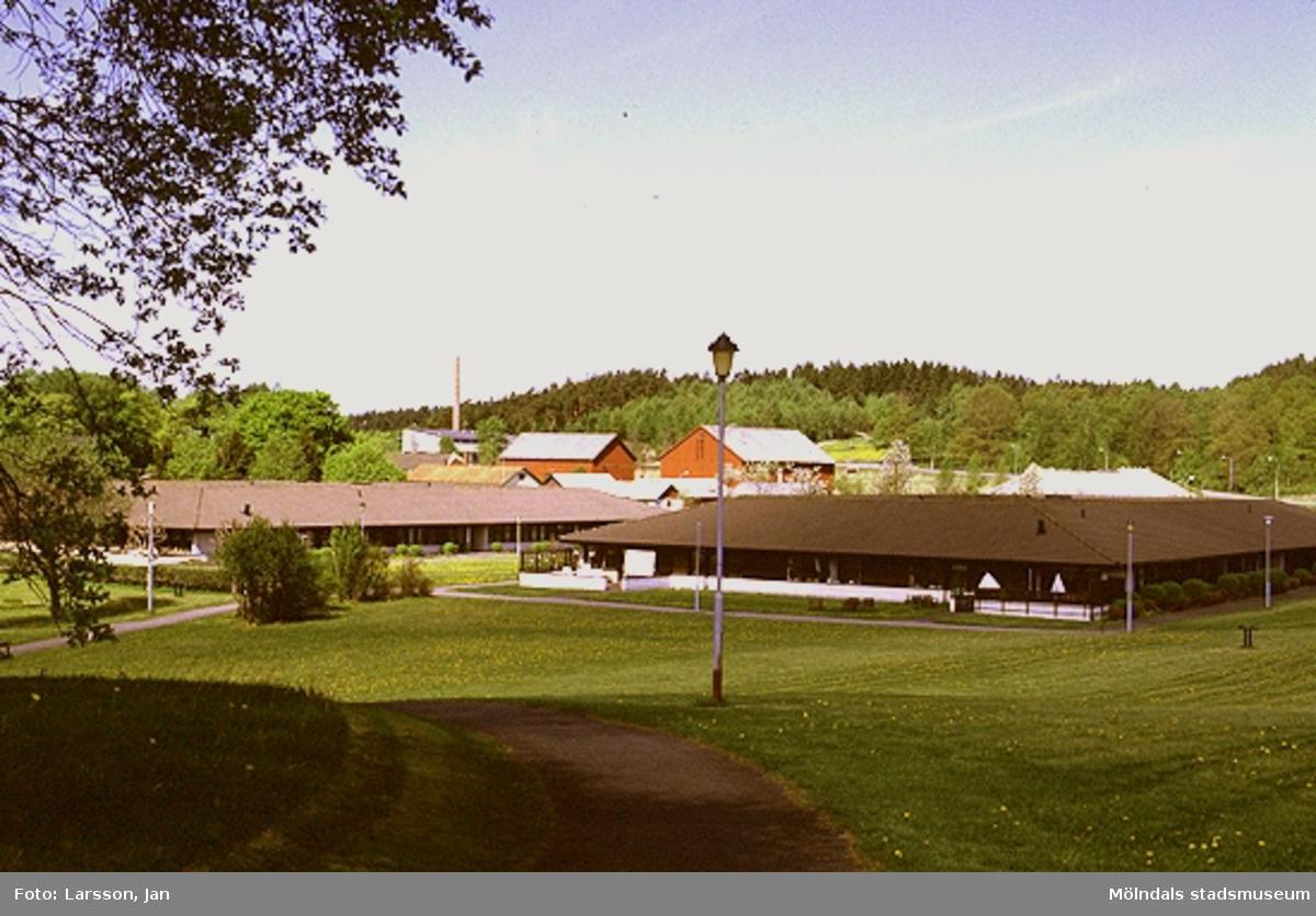 Vy från sydost över Stretered vårdhem, 1980-talet.