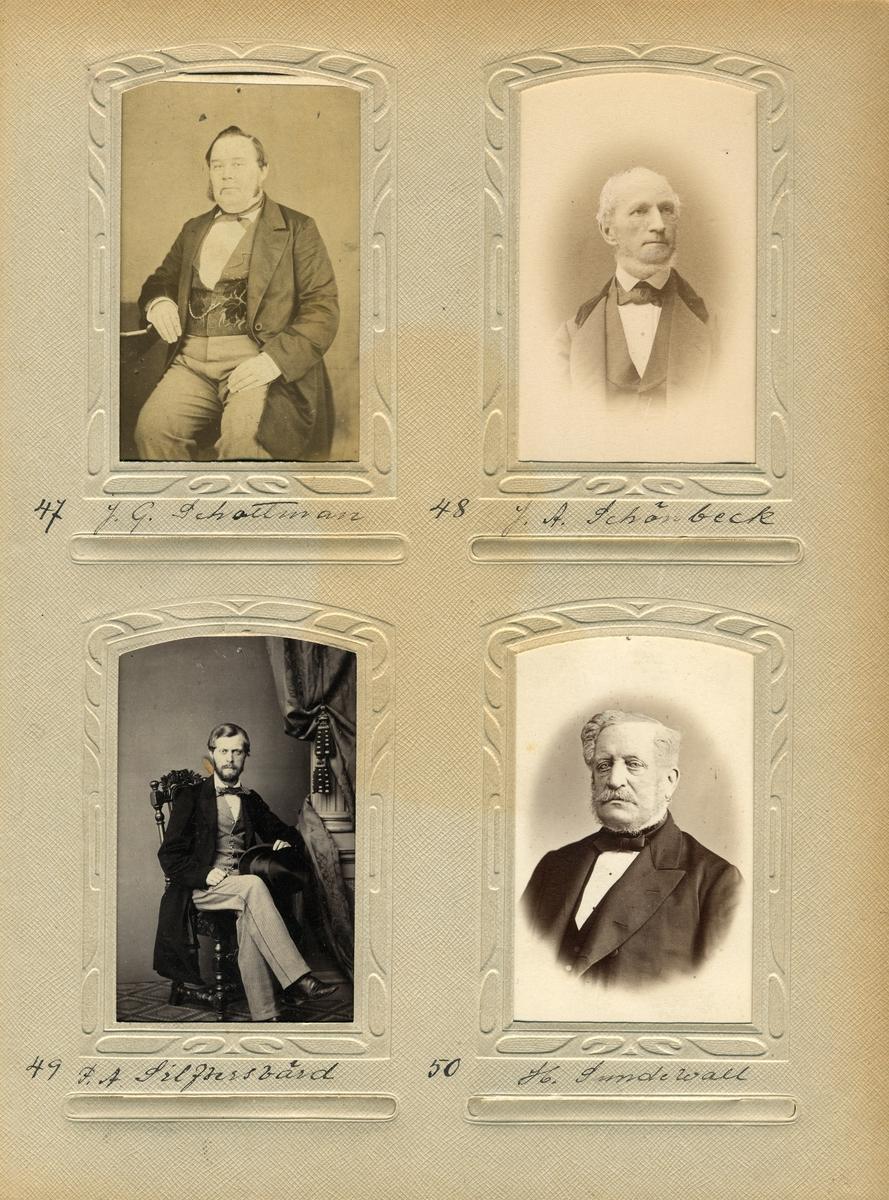Porträtt av postmästaren i Norrköping 1866-1876, Henrik Sundewall.