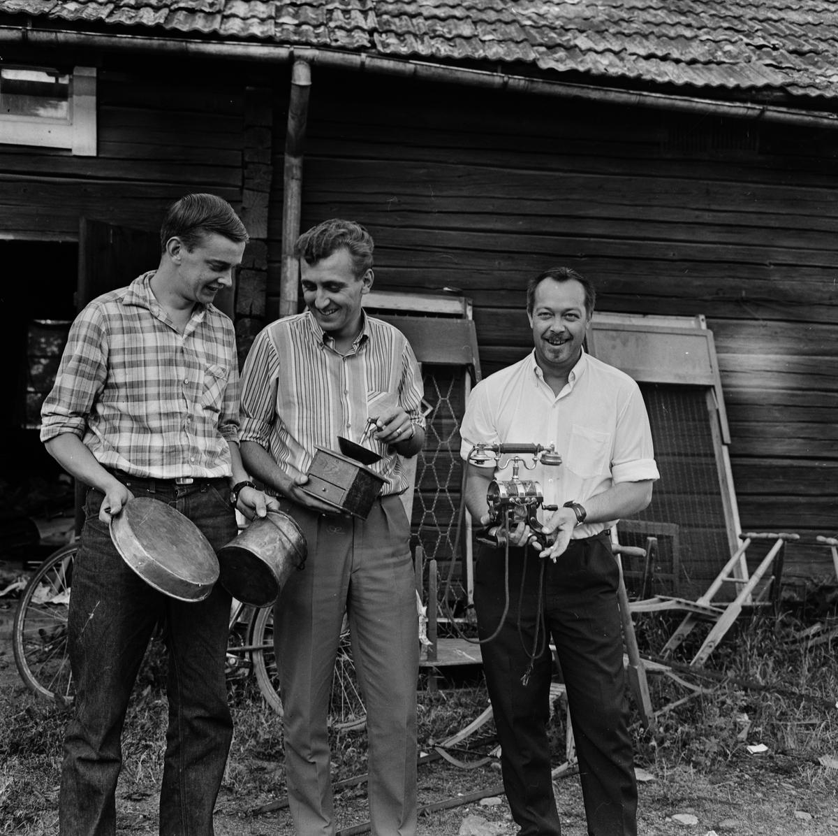 Tierp Hockeys loppmarknad, Tierp, Uppland, juli 1968