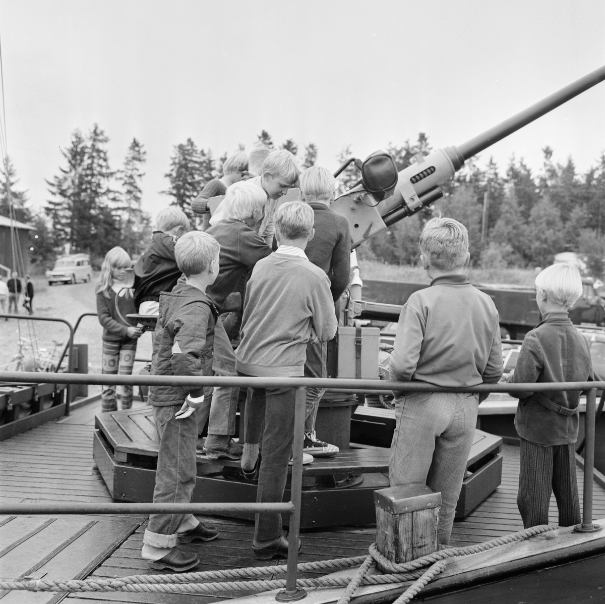 Lionsfest i Fagerviken, Hållnäs socken, Uppland, augusti 1968
