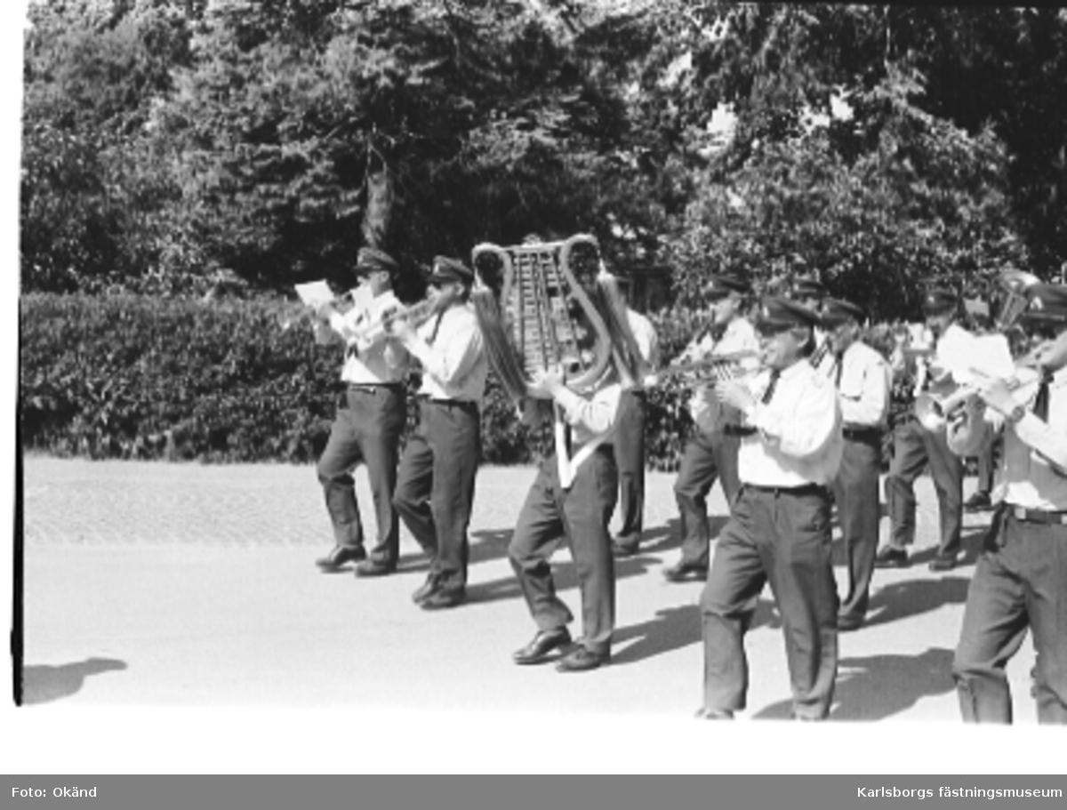 Den 20/6 1984. Livregementets husarer, K3, lämnar Skövde för fortsatt permanent förläggning i Karlsborg.