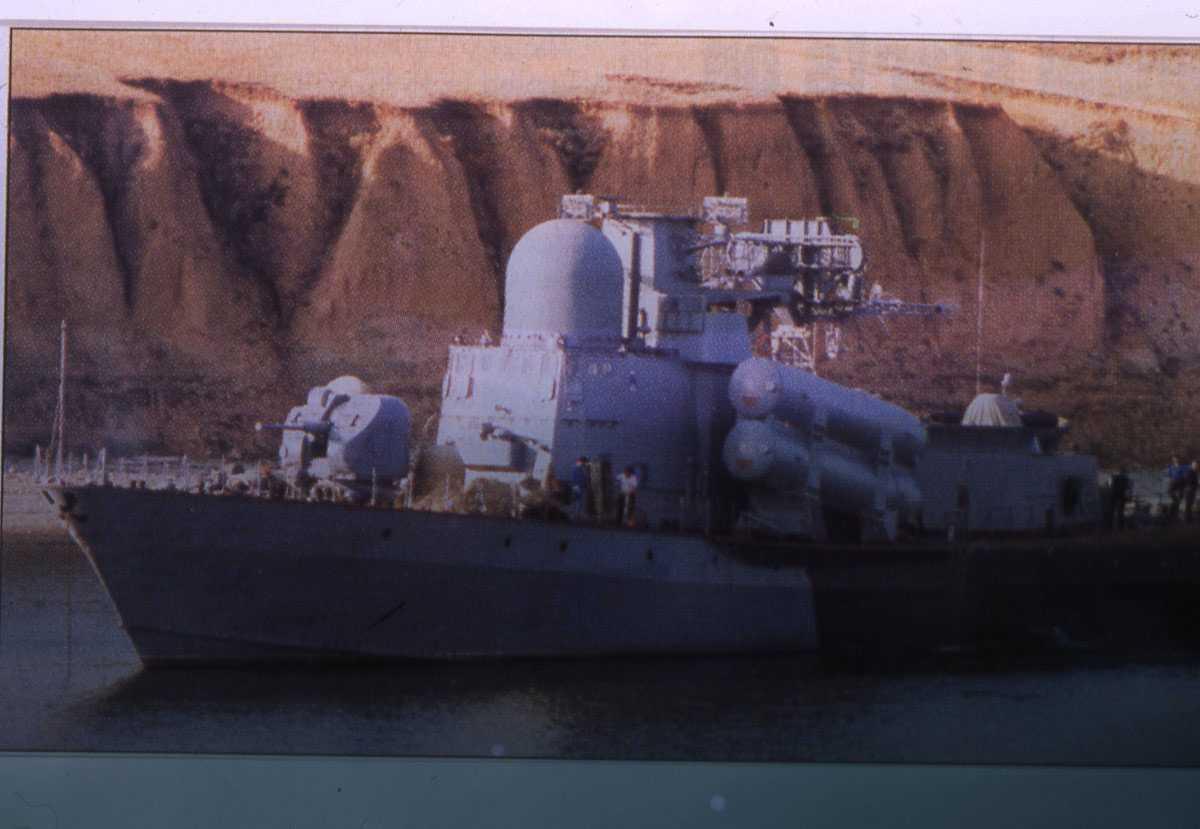 Russisk fartøy av Tarantul III - klassen.