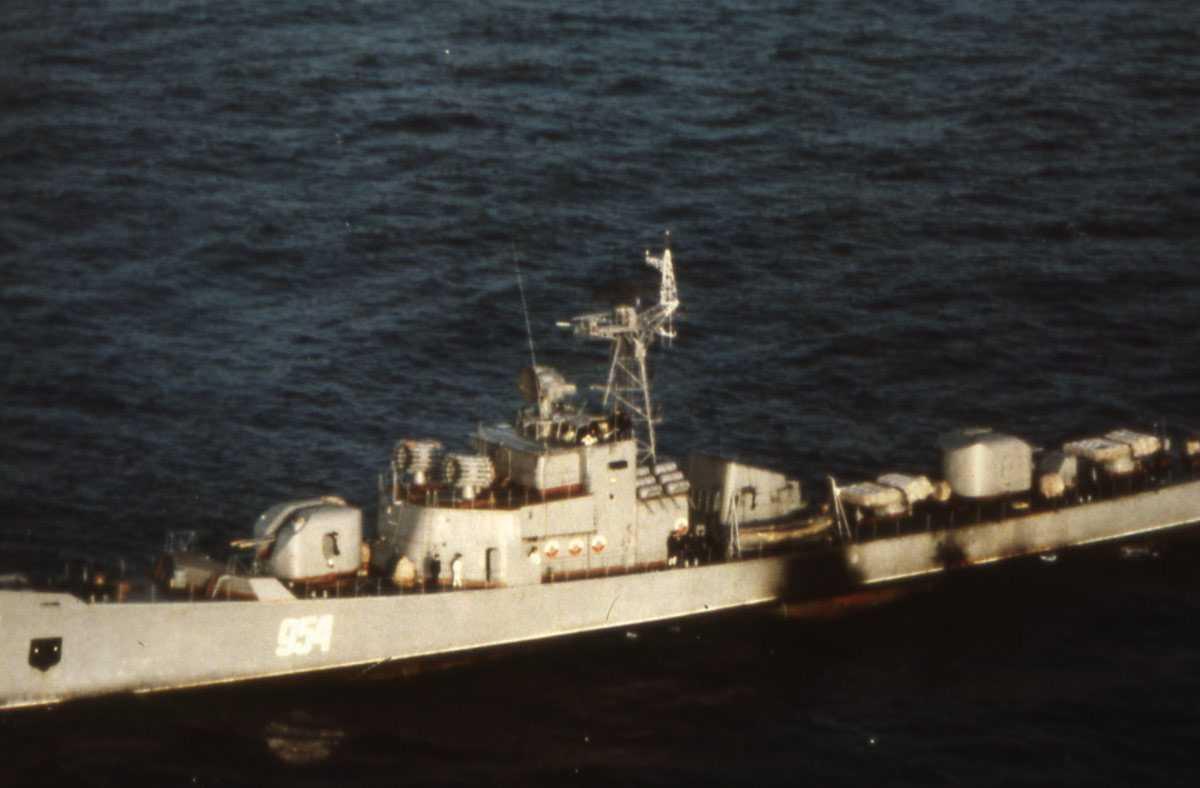Russisk fartøy av Petya - klasssen med nr. 954.