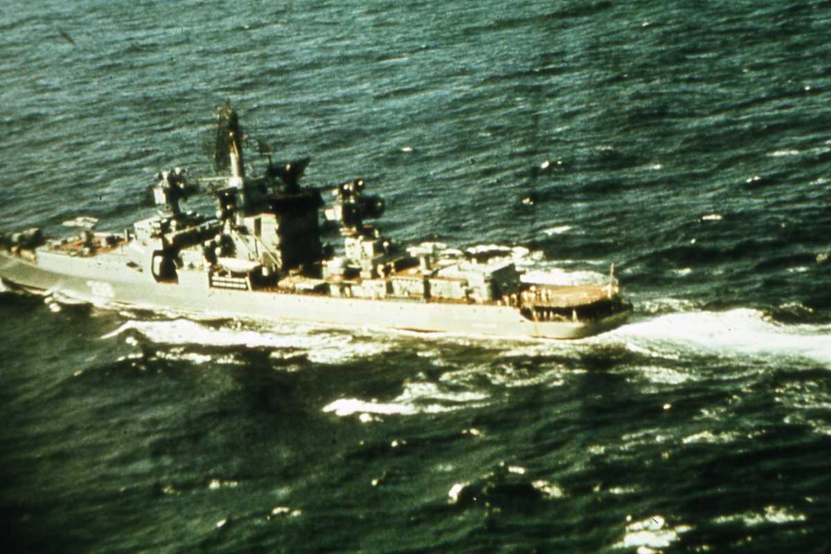 Russisk fartøy av Kresta II - klassen med nr. 298.