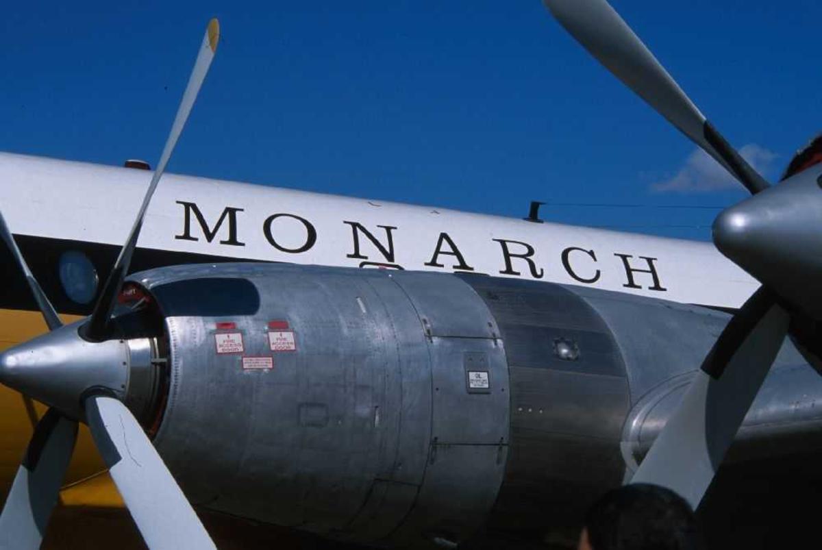 Nærbilde (detaljfoto) av flymotor
