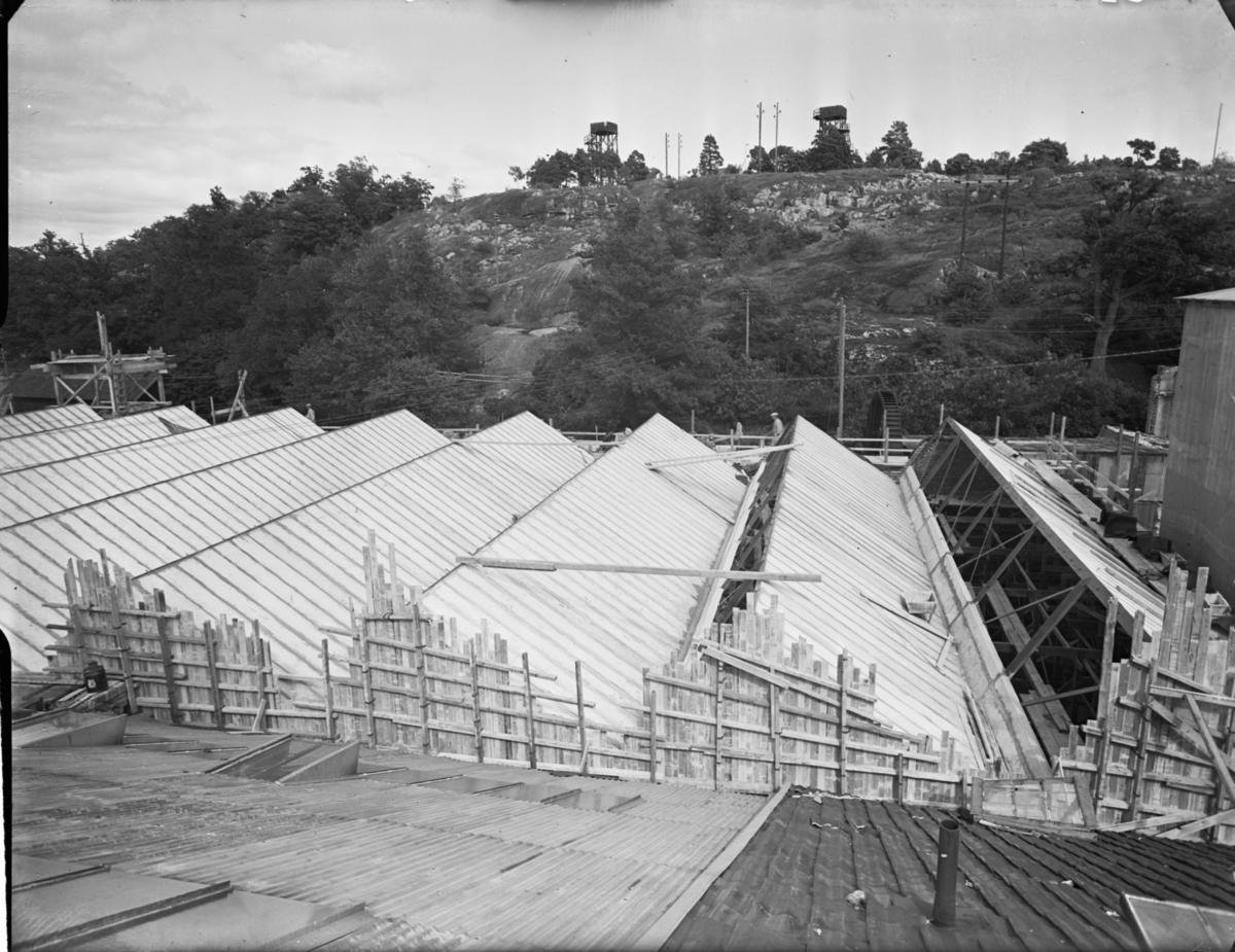 Gustavsberg Fabrikslokaler under uppbyggnad Exteriör