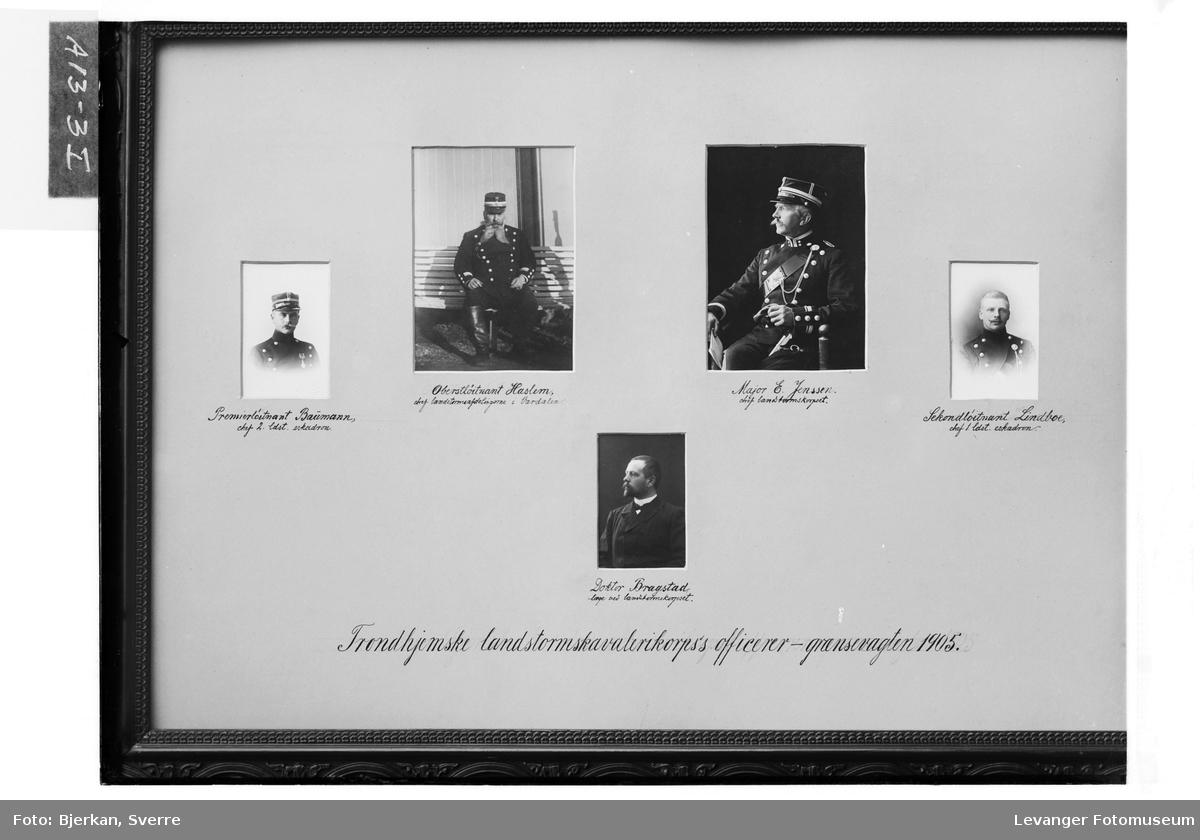 Trondhjemske landstormskavelerikorps's officerer - grænsevagten 1905