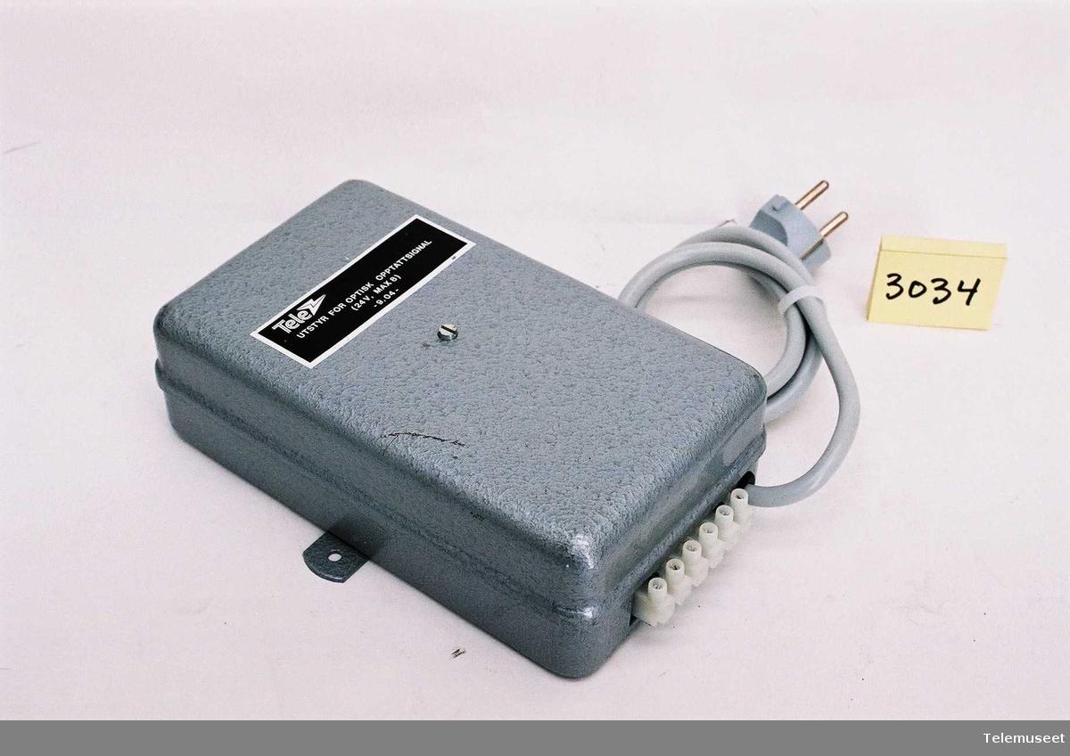 Utstyr for optisk opptattsignal OTA 9.04