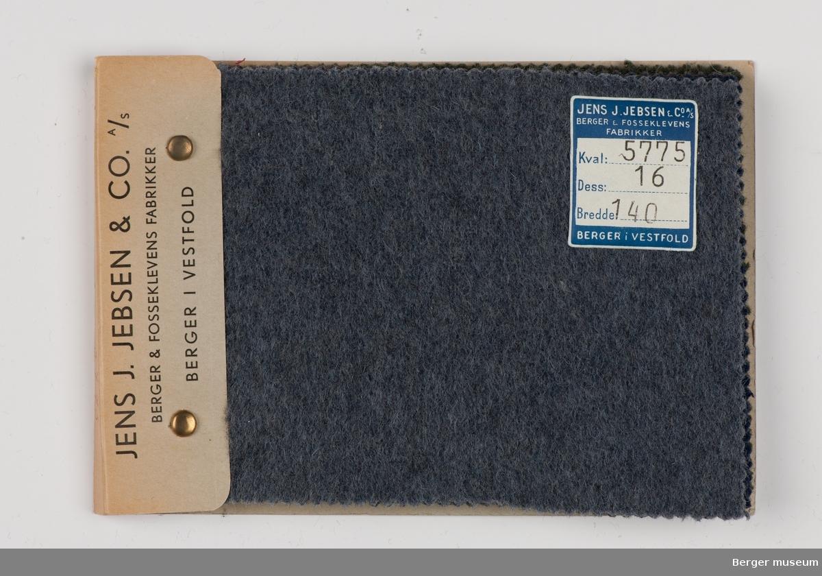 Prøvehefte med 5 prøver Kåpe, bekledning Kvalitet 5775 Melert