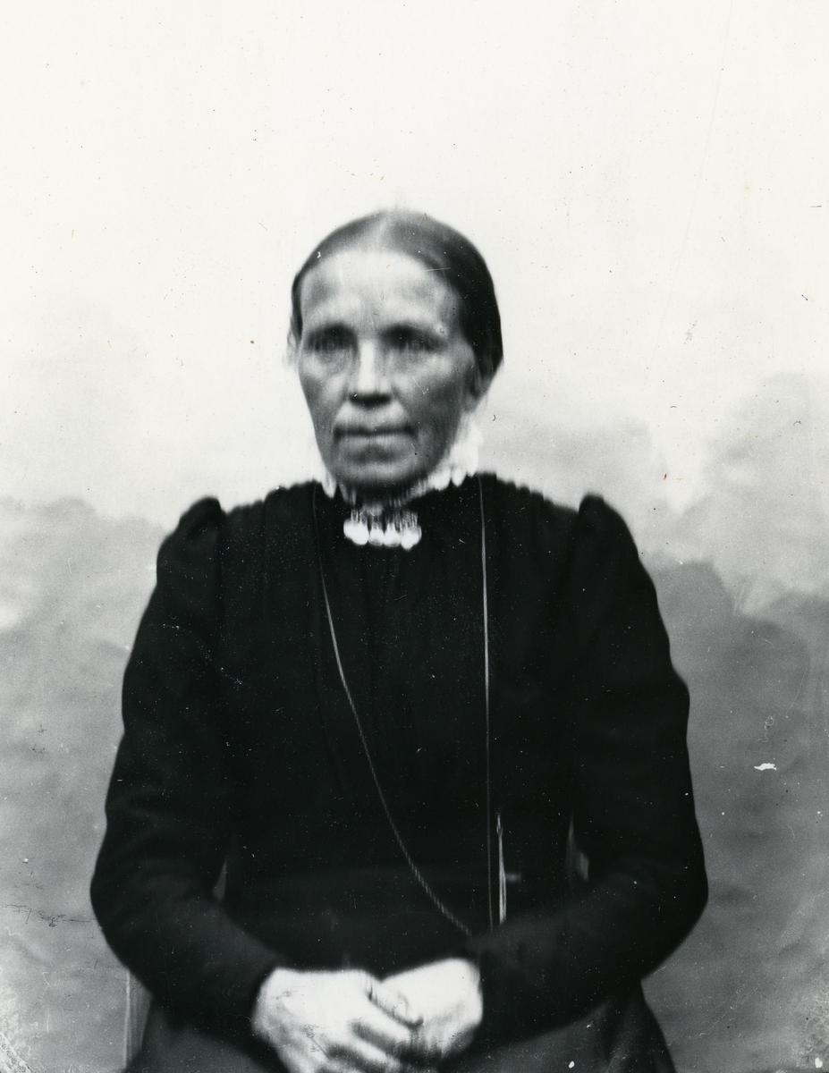 Eldre kvinne, lerretbakgrunn
