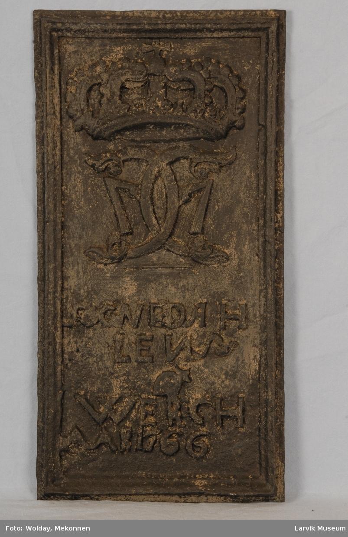 Øvr.: kronet speilmonogram C7 Under: SOGNEDAH/LENS/WERCH/AAR 1766