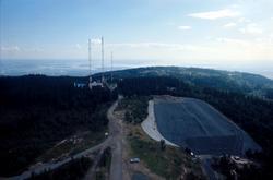 Hovedsendere utsikt fra tårnet