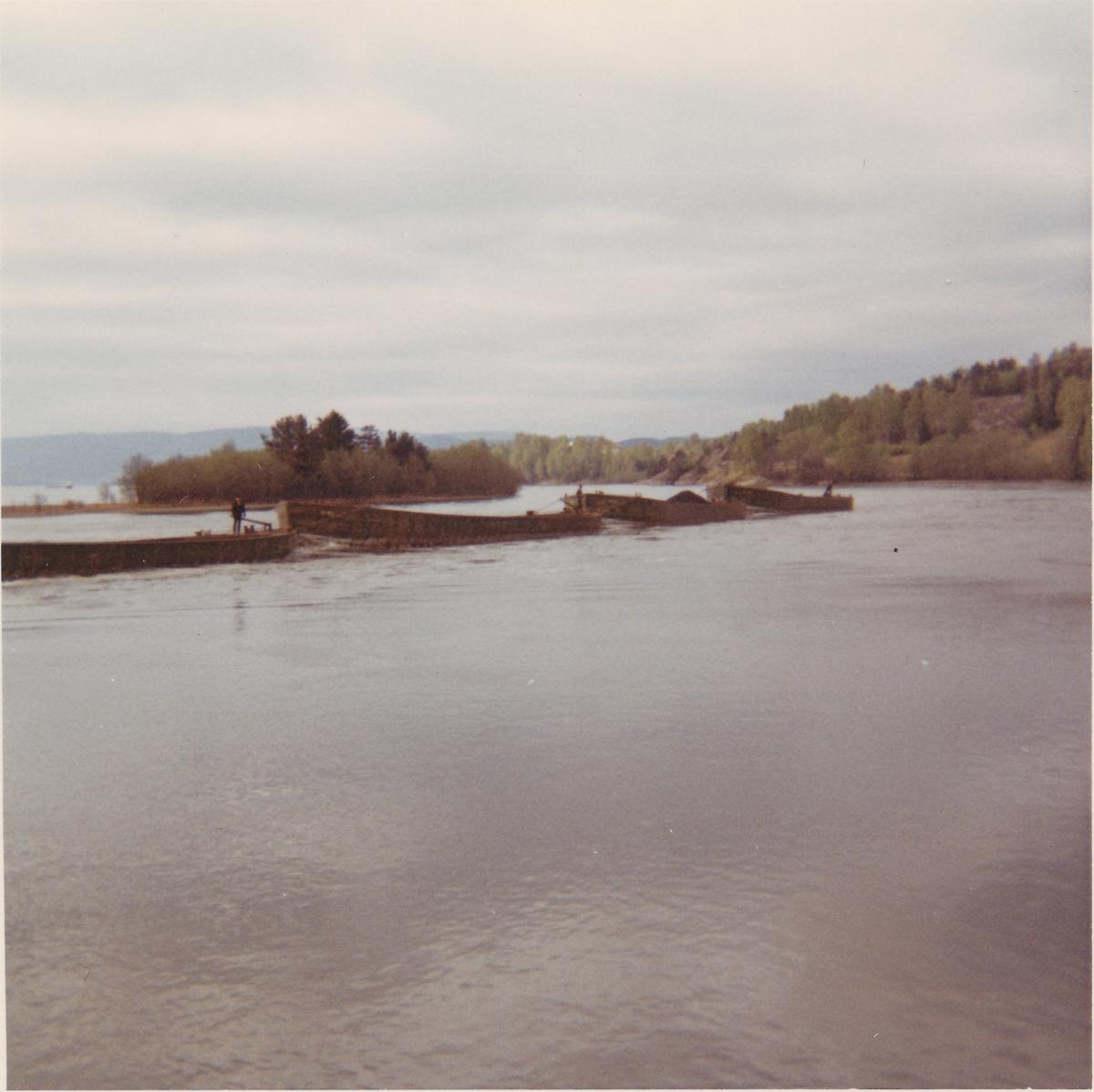 Slepeforsøk ved Akkerhaugen mai 1969.