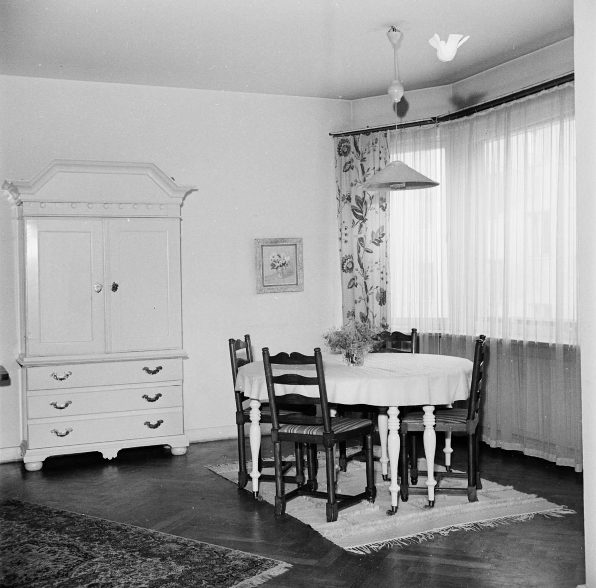 Interiör i kommunalrådet Ola Nyquists hem, Uppsala 1965