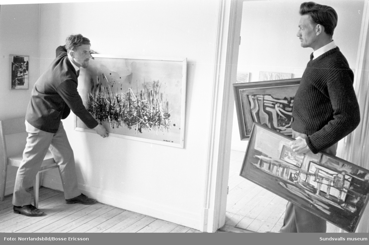 Konstutställning med Sundsvallskonstnärer.
